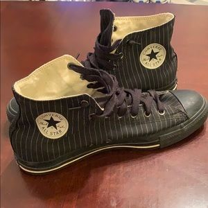 Black Chuck Taylor All-Stars w/pinstripes Sz 12